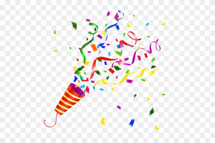 Confete clipart jpg black and white download Confetti Clipart Party Horn - Party Popper Confetti Png, Transparent ... jpg black and white download