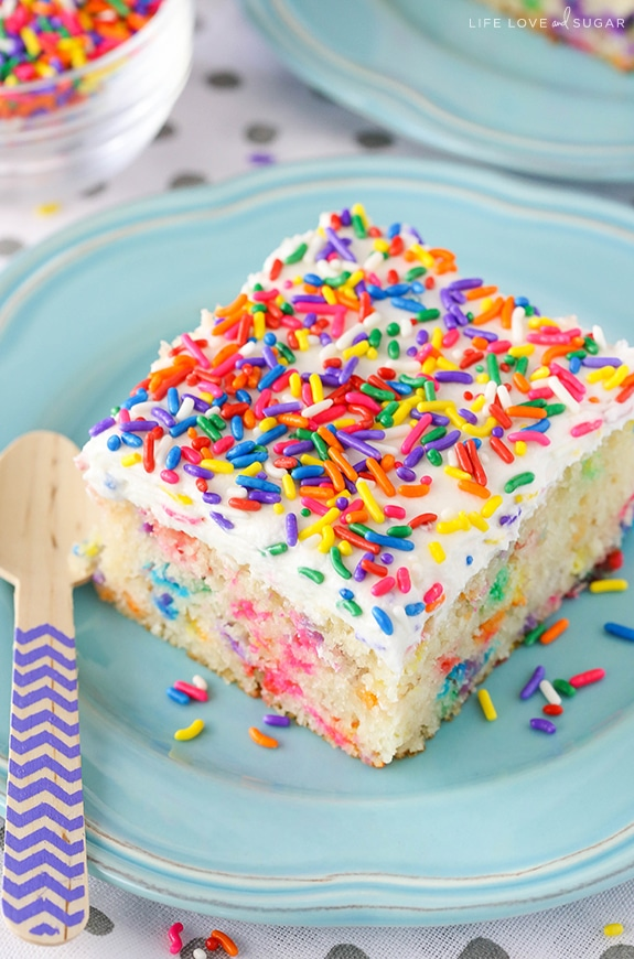 Confetti cake clipart image freeuse download Homemade Funfetti Cake | Easy Birthday Cake Recipe image freeuse download