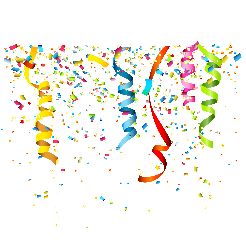 Confetti clipart vector free graphic freeuse library Party Confetti Birthday Clip art - Confetti streamers vector png ... graphic freeuse library