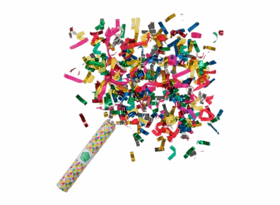 Confetti explosion clipart freeuse library Confetti Cannon - Confetti Tube Free PNG Images & Clipart Download ... freeuse library