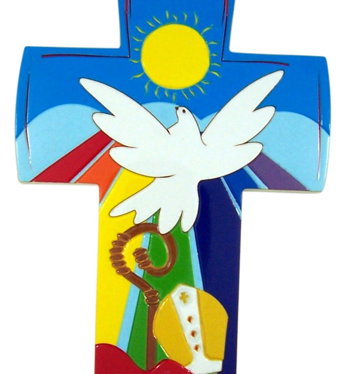 Confirmation gifts of the holy spirit clipart image download Multi-Color Gifts of the Holy Spirit Catholic Confirmation Wall Cross, 6  1/2 Inch image download