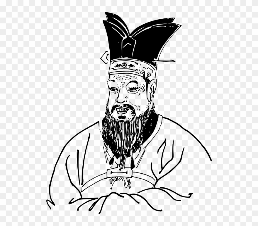 Confucious clipart jpg black and white library Lineart Famous Philosophy Vector Free Library - Confucius Line ... jpg black and white library