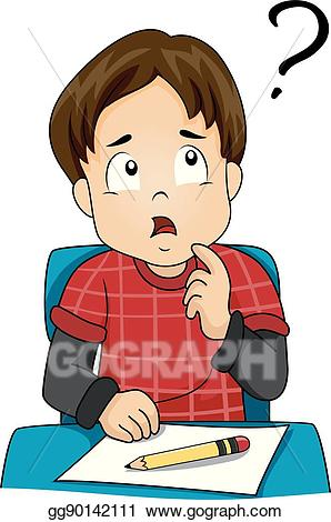 Confused child clipart clip freeuse library Vector Art - Kid boy class confused. EPS clipart gg90142111 - GoGraph clip freeuse library