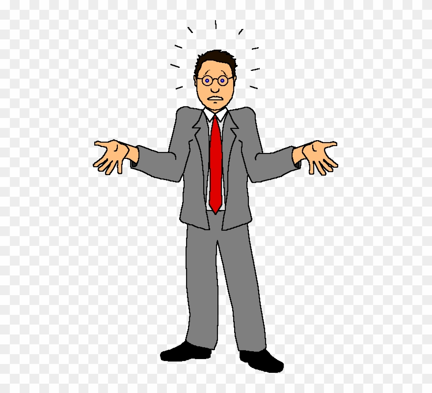 Confused man clipart png black and white stock Confused Man Clipart Gif, Free Confused Man Clipart - Cartoon Person ... png black and white stock
