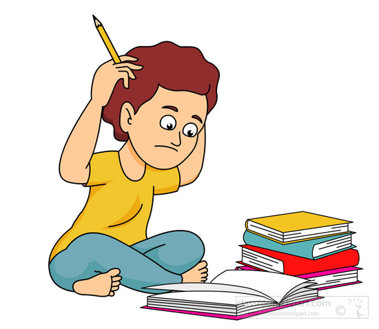 Confused student clipart black and white download Confused student clipart kid - ClipartBarn black and white download