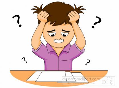 Confused student clipart graphic library stock Student Confusion in the Classroom Lesson | Share My Lesson graphic library stock