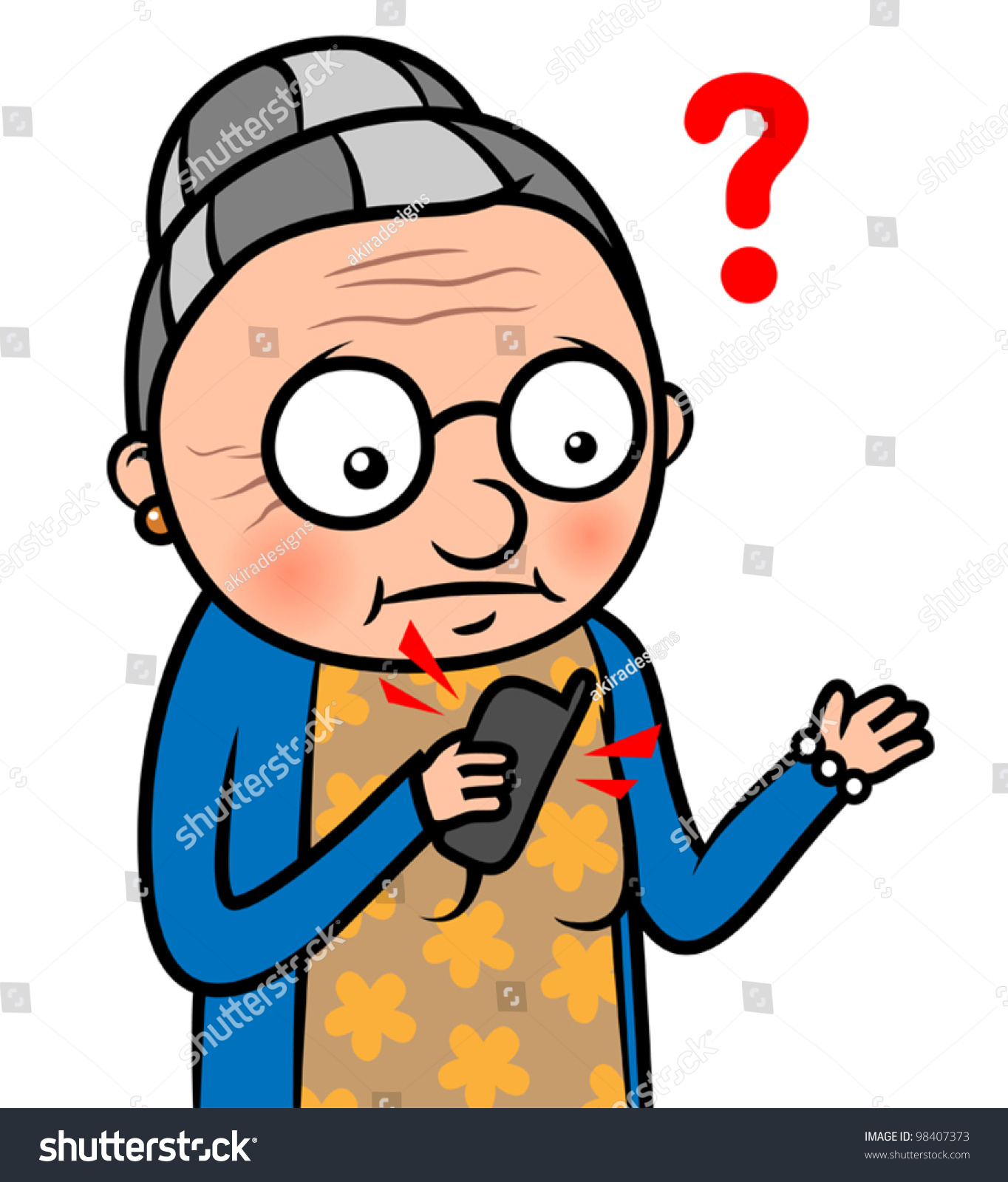 Confused woman clipart vector download Cartoon Vector Illustration Of A Confused Old Woman - Free Clipart vector download