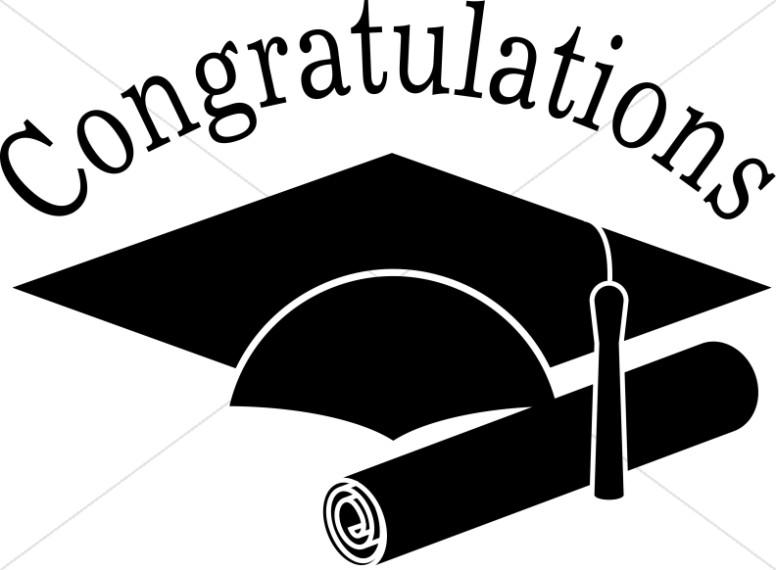 Congratsgrad clipart banner free Congratulations Grads Black and White Clip art | Christian ... banner free