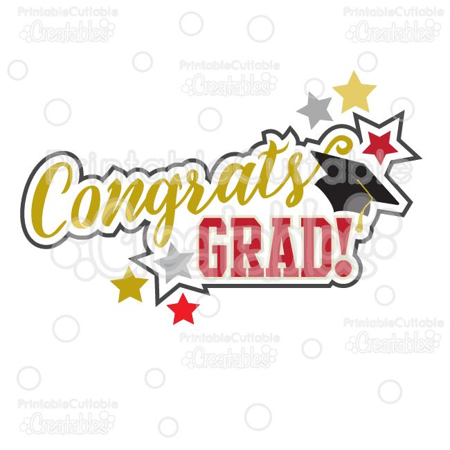 Congratsgrad clipart transparent Congrats Grad Scrapbook Title SVG Cut File & Clipart transparent