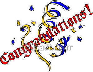Congratulations sign clipart picture freeuse download Congratulations Sign With Confetti - Royalty Free Clipart Picture picture freeuse download