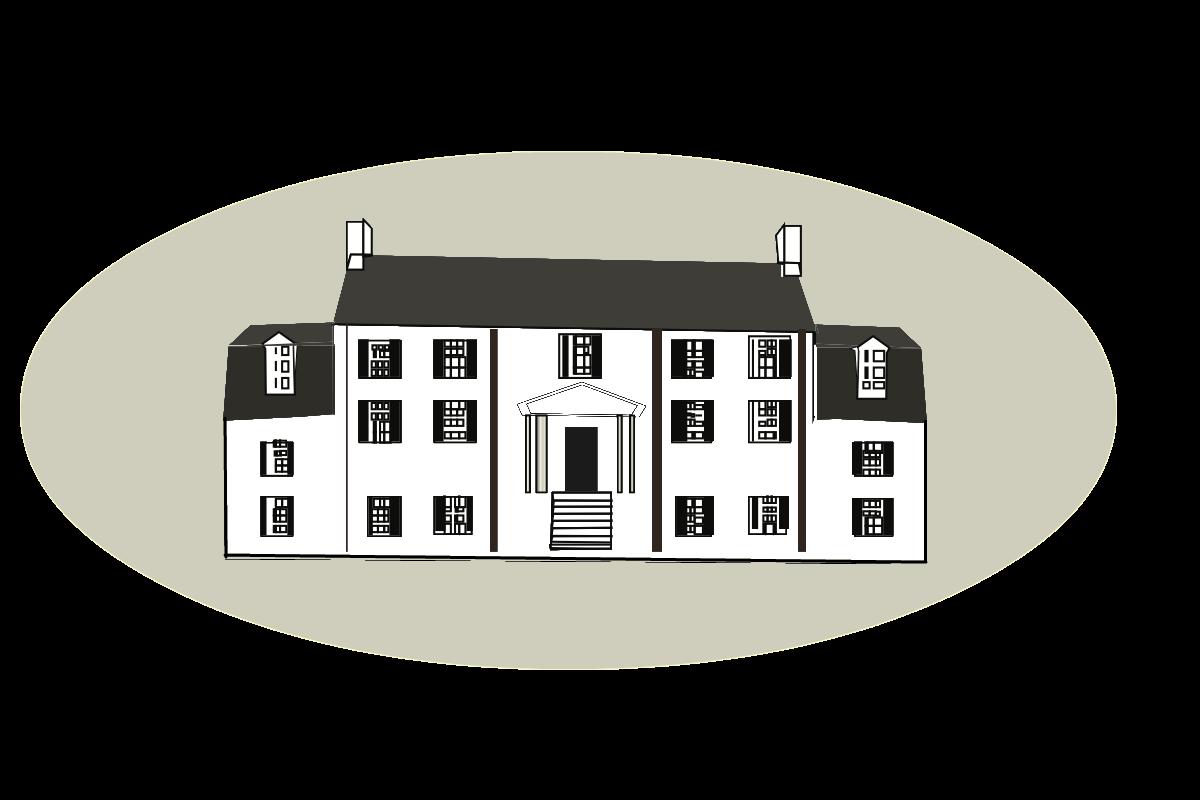 Plantation house clipart