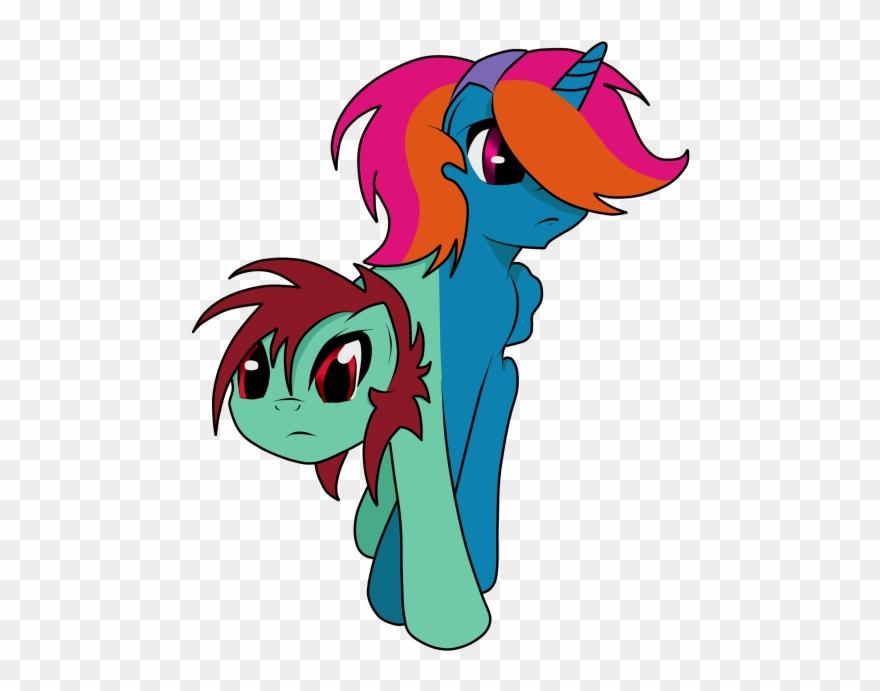 Conjoined clipart vector transparent Furiosthestral, Conjoined, Cute, Ettin, Ettin Pony, Clipart ... vector transparent