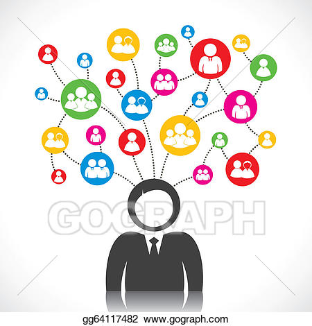 Connect clipart svg library library EPS Vector - Social connection. Stock Clipart Illustration ... svg library library