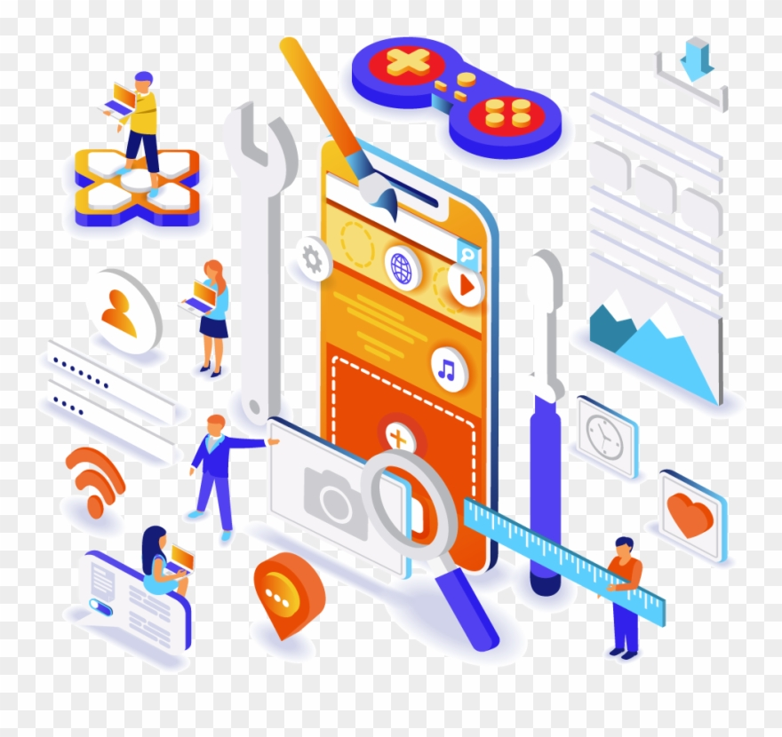 Connex clipart image black and white Select A Time Frame - App Development Isometric Clipart (#4951662 ... image black and white