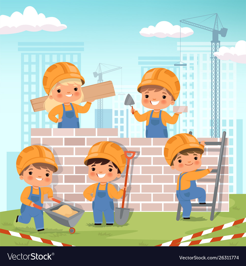 Construction background clipart svg free download Construction background little kids making some svg free download