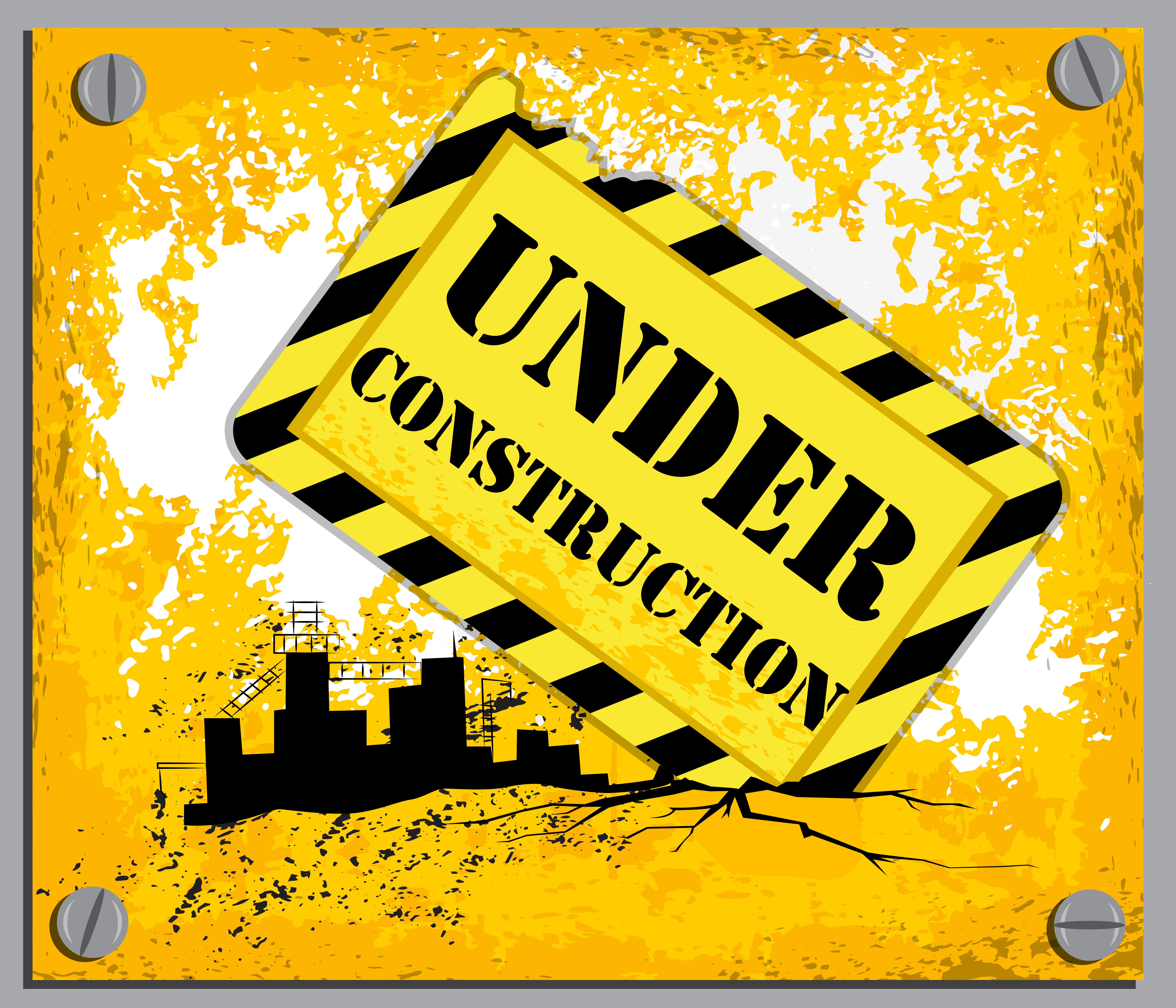 Construction background clipart svg royalty free Yellow Under Construction Background | Gallery Yopriceville - High ... svg royalty free