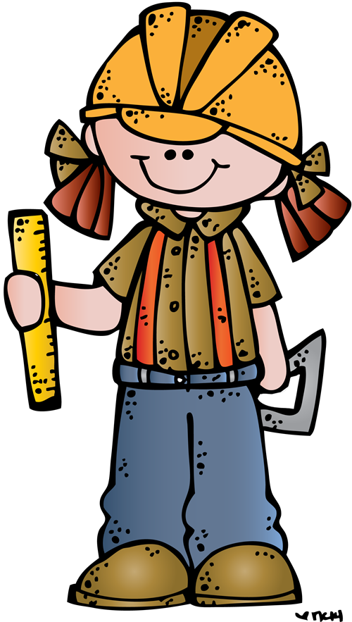 Construction boy and girl clipart black and white png library library Girls clipart construction - 108 transparent clip arts, images and ... png library library