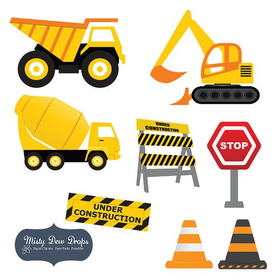 Construction cliparts. Clip art on and
