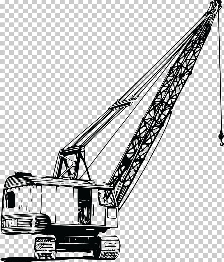 Construction equipment clipart black and white png jpg freeuse Crane Hoist Architectural Engineering PNG, Clipart, Angle ... jpg freeuse