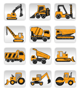 Construction machinery clipart banner transparent library Construction Equipment image - vector clip art online, royalty free ... banner transparent library