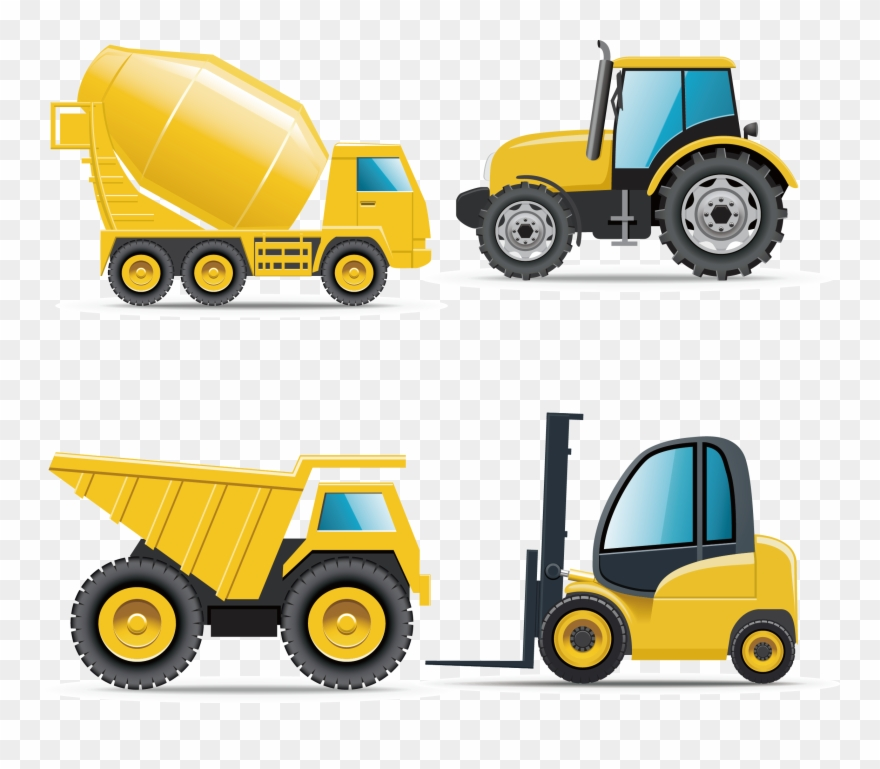 Construction machinery clipart vector freeuse stock Car Heavy Equipment Architectural Engineering Truck - Vector ... vector freeuse stock