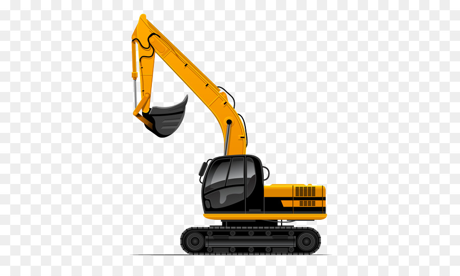 Construction machinery clipart png black and white stock Yellow Background clipart - Excavator, Bulldozer, Construction ... png black and white stock