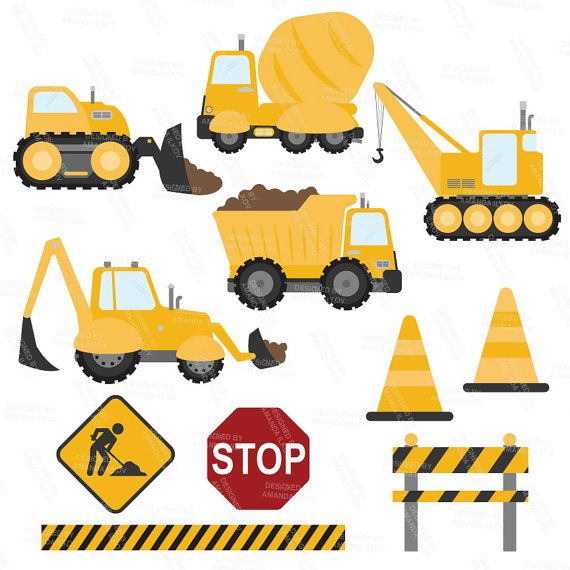 Construction machinery clipart banner transparent download Premium Yellow Construction Clipart - Truck Clipart, Construction ... banner transparent download