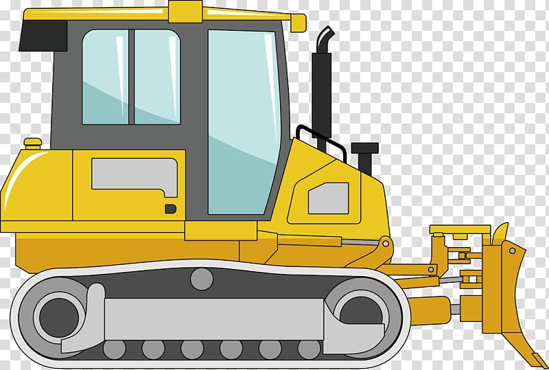 Construction machinery clipart vector freeuse Bulldozer Heavy equipment Machine Excavator, Small bulldozers for ... vector freeuse