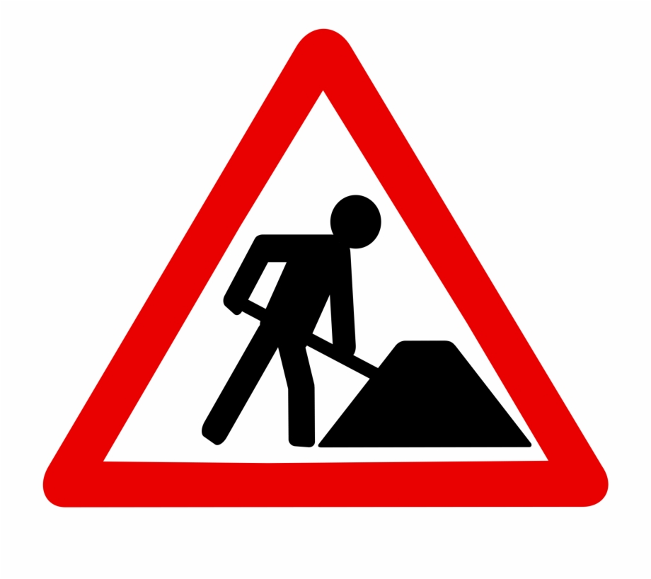 Construction road signs clipart clip transparent download Red Construction - Traffic Signs Road Works Free PNG Images ... clip transparent download