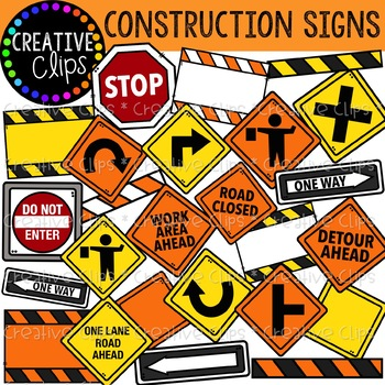 Construction road signs clipart png transparent download Construction Signs Clipart {Creative Clips Clipart} png transparent download