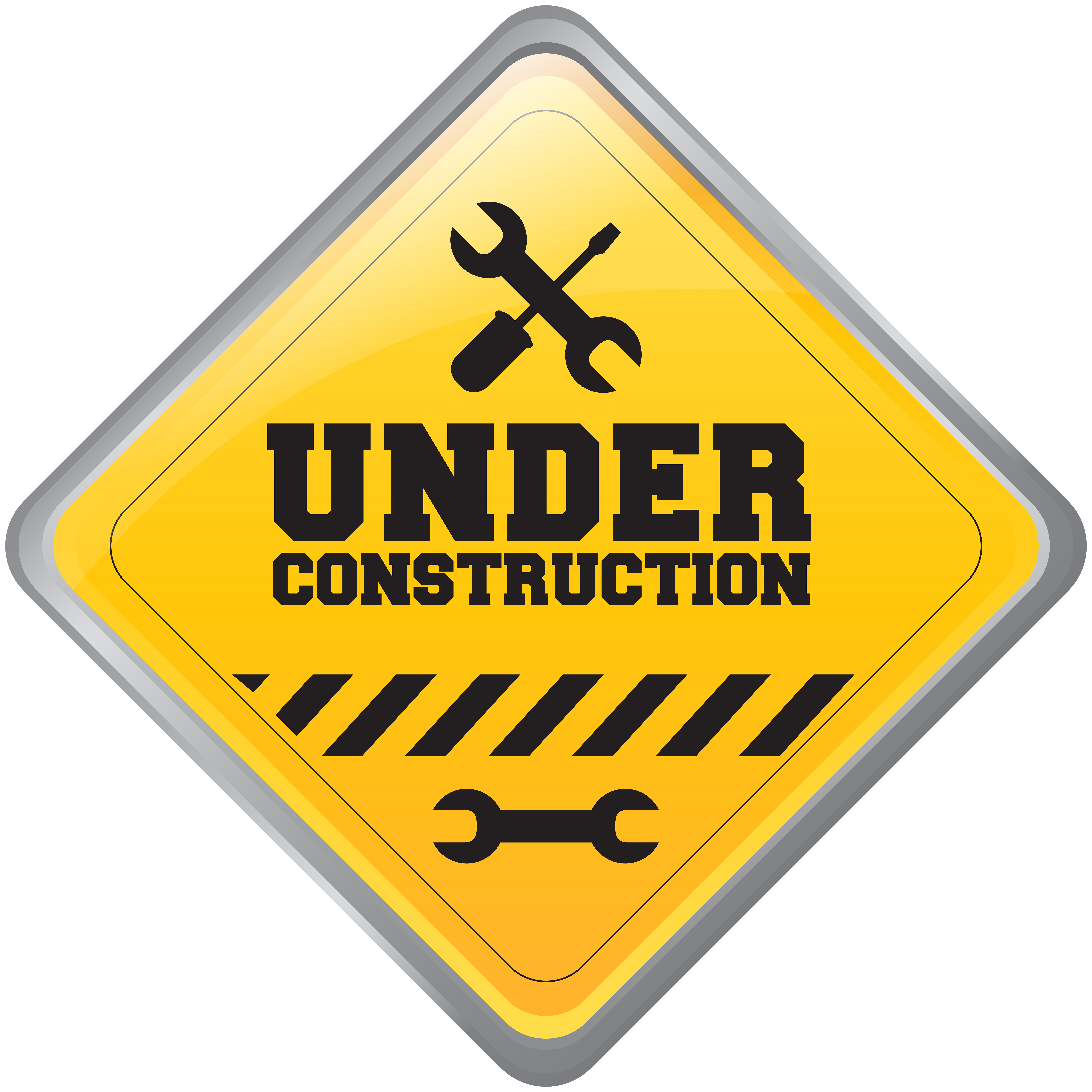 Construction signs clipart graphic library library Under Construction Sign PNG Clip Art - Best WEB Clipart graphic library library
