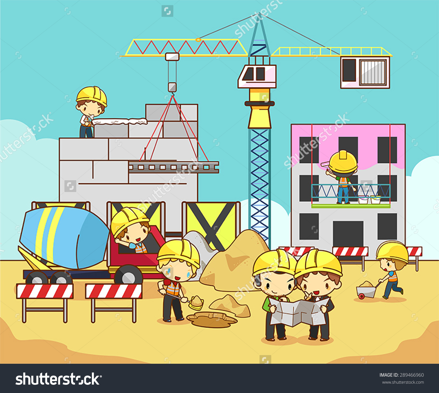 Construction site background clipart black and white library Construction Site Vector Clip Art Free – Clipart Free Download black and white library