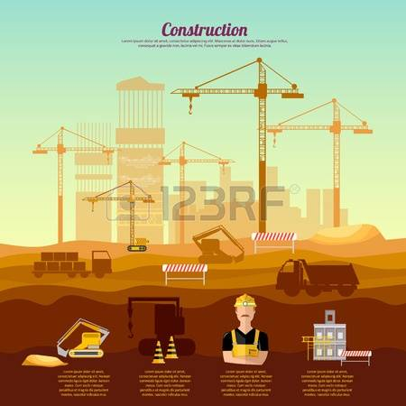 Construction site background clipart banner library library 127,643 Site Background Stock Vector Illustration And Royalty Free ... banner library library