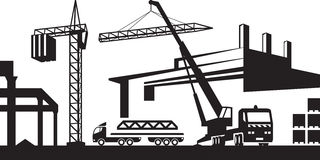 Construction site clip art vector royalty free stock Construction site clipart black and white - ClipartFest vector royalty free stock