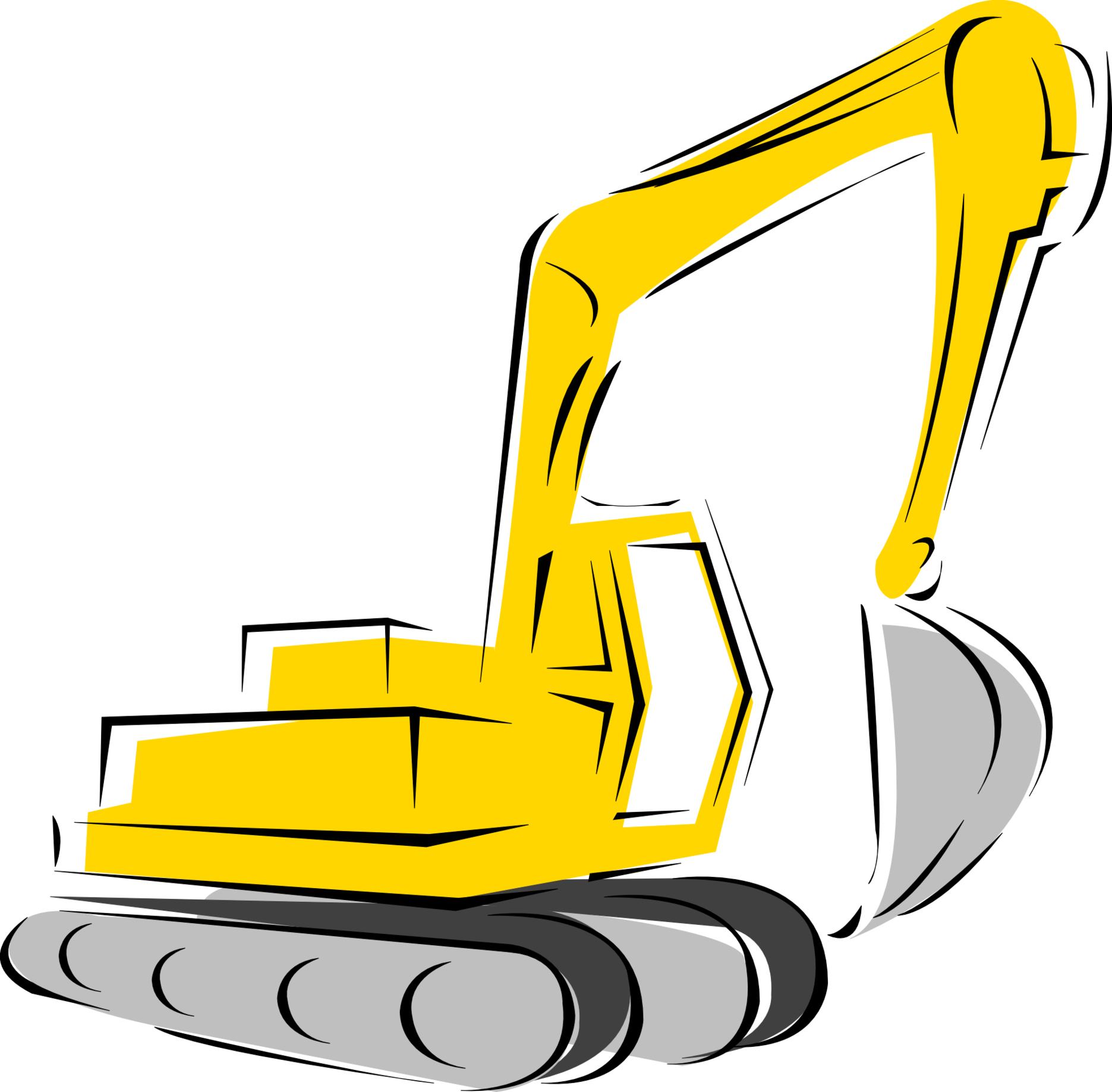 Construction site clipart clip freeuse Heavy Equipment Silhouette at GetDrawings.com | Free for personal ... clip freeuse
