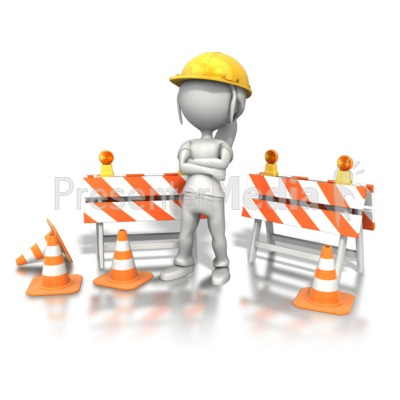 Construction symbols clipart black and white library Woman Standing Construction Site - Signs and Symbols - Great Clipart ... black and white library