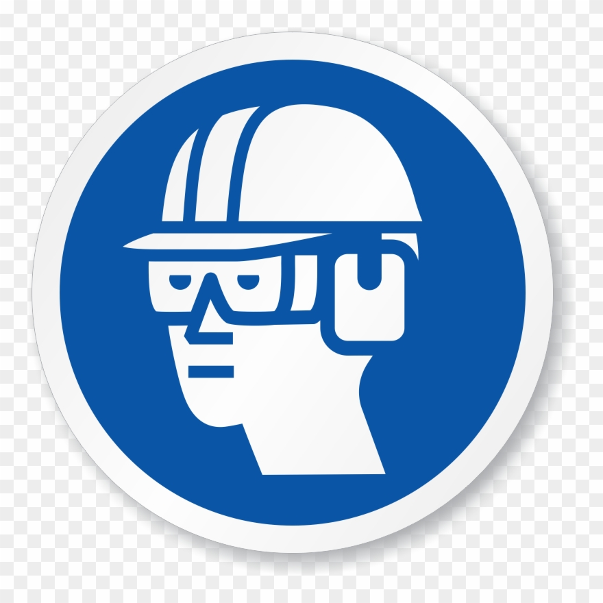 Construction symbols clipart transparent download Grinder Clipart Eye Protection - Construction Site Safety Symbols ... transparent download