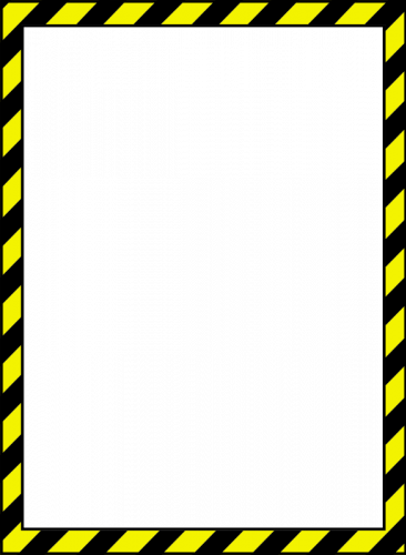 Construction tape clipart 1200x1200 background jpg black and white Caution Tape Border - Clip Art Library jpg black and white