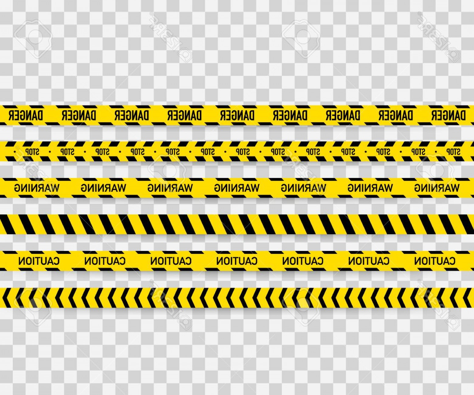 Construction tape clipart 1200x1200 background picture freeuse stock Photostock Vector Vector Set Of Seamless Caution Tapes Warning Tape ... picture freeuse stock