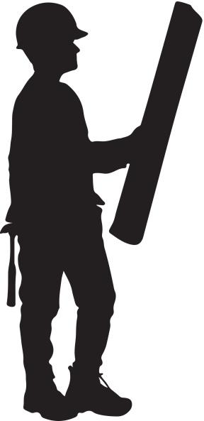 Construction worker silhouette clipart jpg freeuse library Free Construction Worker Silhouette, Download Free Clip Art ... jpg freeuse library