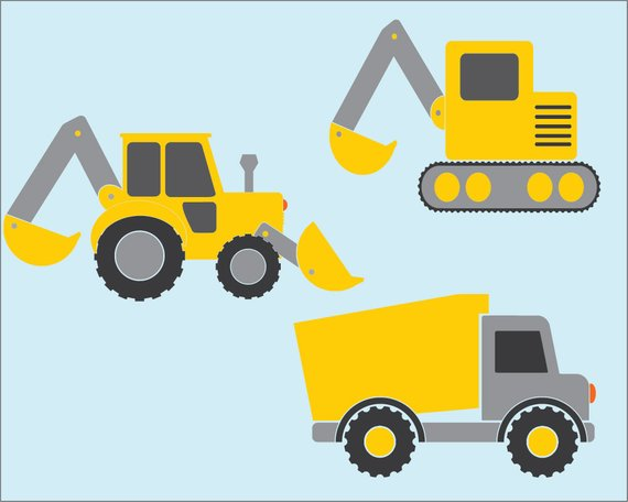Constructionvehicle clipart clipart freeuse Construction Vehicles - Vector Clipart / Transportation ... clipart freeuse