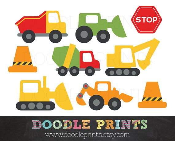 Constructionvehicle clipart vector free download Clipart Construction Trucks, Construction Digital Clip Art ... vector free download