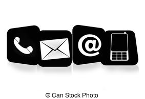 Contact us clip art. Details stock illustration images