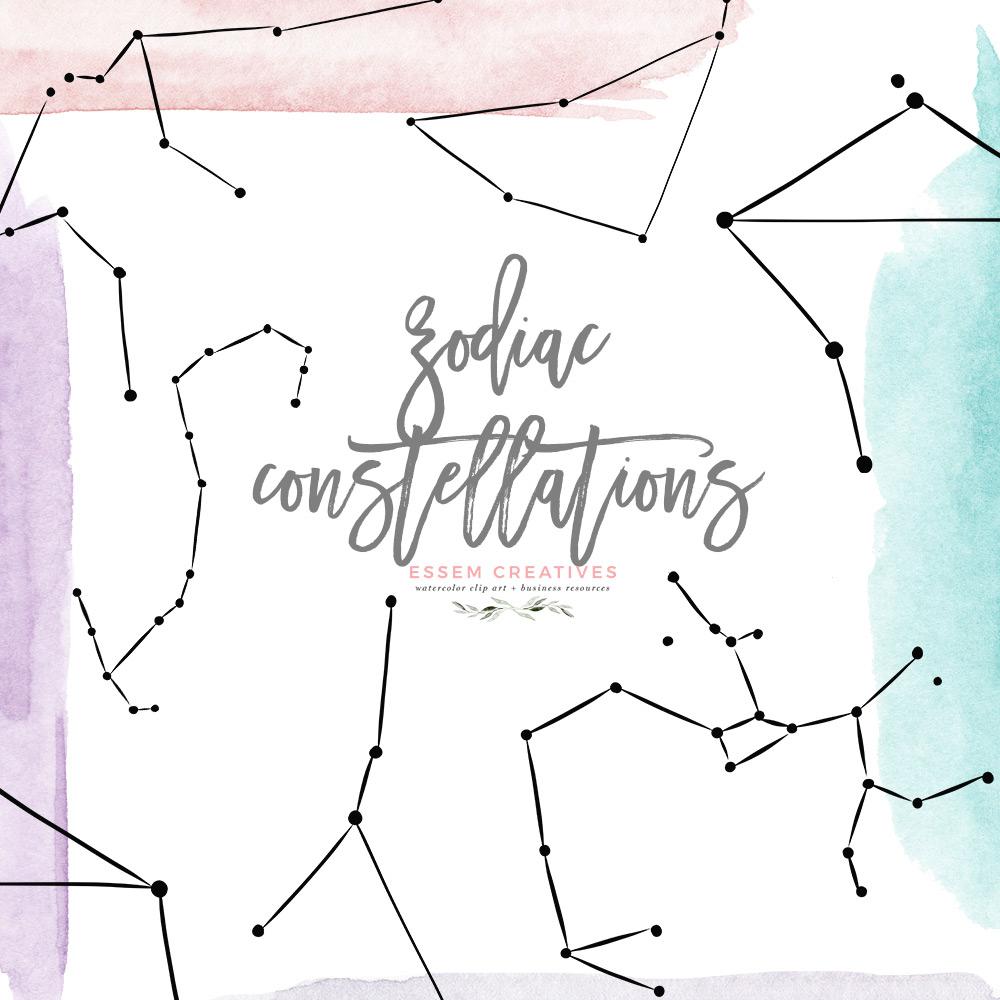 Contellation clipart jpg freeuse stock Zodiac Sign Clipart Astrology Constellation Graphics Aries Taurus Gemini  Cancer Leo Virgo Libra Scorpio Sagittarius Capricorn Aquarius Pisces jpg freeuse stock