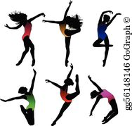 Contemporary dance clipart svg transparent library Modern Dance Clip Art - Royalty Free - GoGraph svg transparent library