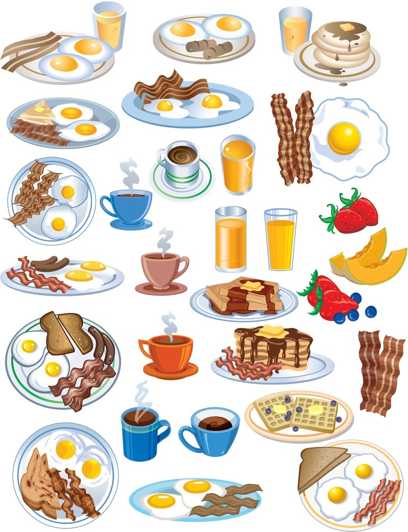 Continental breakfast clipart vector library stock Continental Breakfast Cliparts 6 - 800 X 1043 - Making-The-Web.com vector library stock