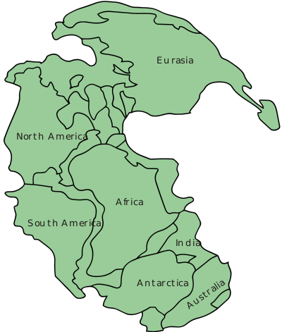 Continental drift clipart clip transparent download High School Earth Science/Continental Drift - Wikibooks, open books ... clip transparent download