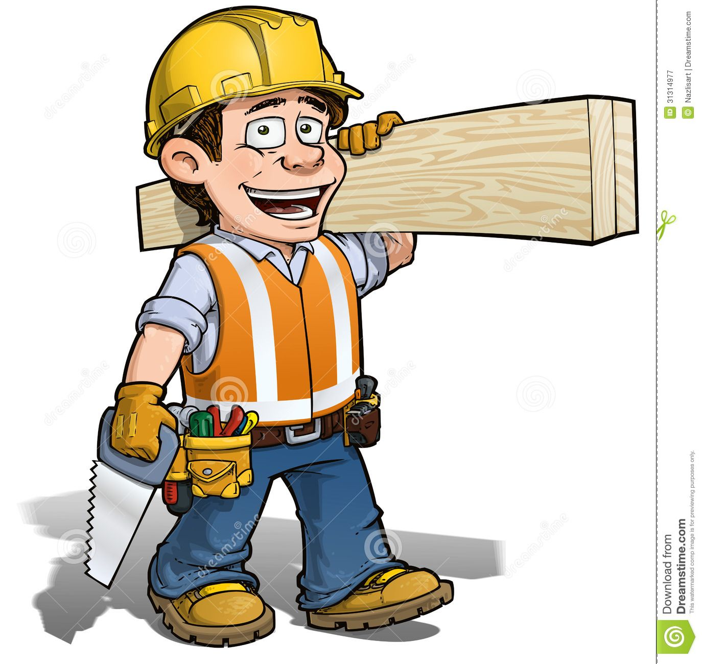 Contractor on phone clipart jpg black and white Carpenter clipart contractor - 16 transparent clip arts, images and ... jpg black and white