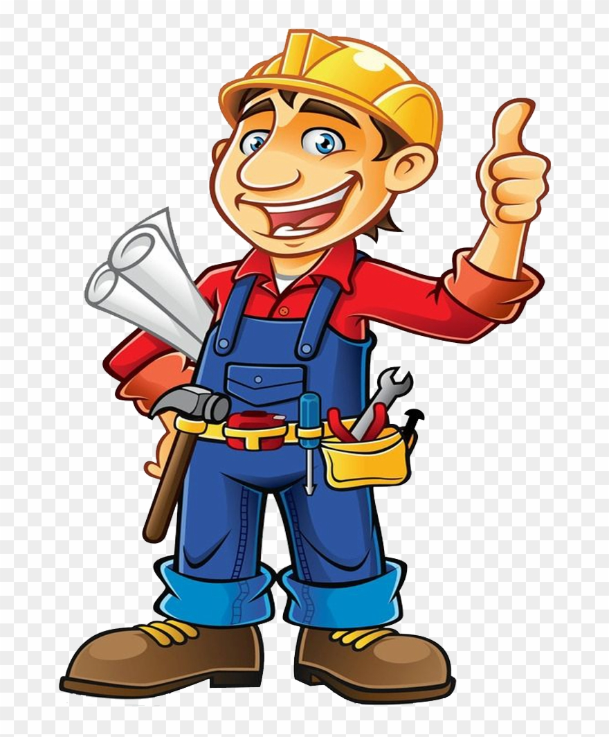 Contractors clipart clipart royalty free stock Engineering Clipart Contractor - Construction Worker Cartoon - Png ... clipart royalty free stock