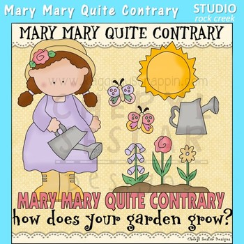Contrary clipart banner royalty free library Mary Mary Quite Contrary Nursery Rhyme Clip Art C. Seslar banner royalty free library